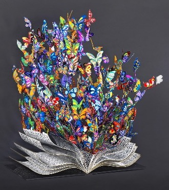 "Book of life - 21"" x 19"" x 15,6"" - Sculpture metal in 3D"
