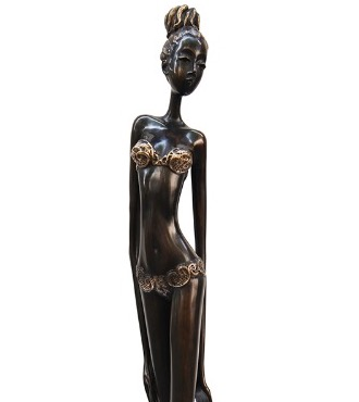 "Eve - 40"" - Bronze sculpture, unique work"