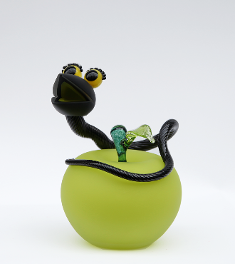 Apple - Glass sculpture - 11""