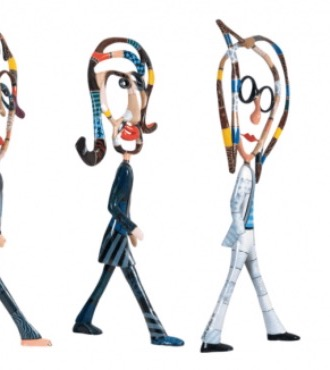 The Beatles XL - 193 x 280 x 60 cm - Sculpture en aluminium