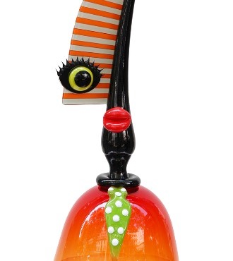 Spiny Orange - Glass sculpture - 23""