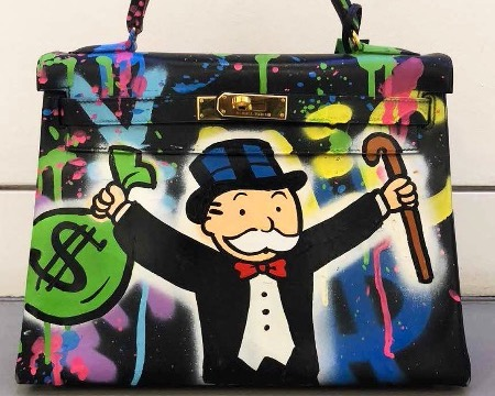 Monopoly Holding $ and Cane Birkin Bag - Bag