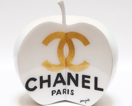 "Style apple - 7"" inch - Resin sculpture"