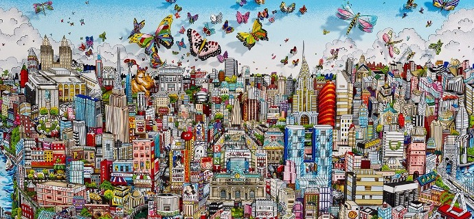 Come fly with me, come fly away in NYC - 102 x 71 cm - Sérigraphie 3D