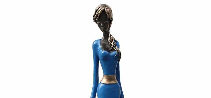 "Laura - 68"" - Bronze sculpture, unique work"