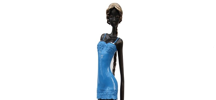 "Grace - 40"" - Bronze sculpture, unique work"
