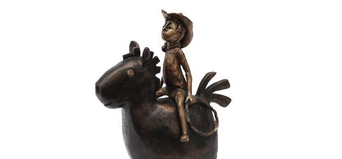 "Billy - 7,87"" - Bronze sculpture"