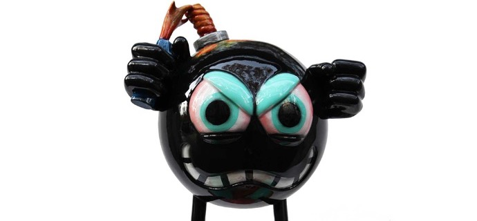 The Flip World - Resin Sculpture - 28""